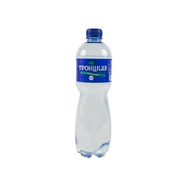 Вода газированная 0.6 л, Троицкая